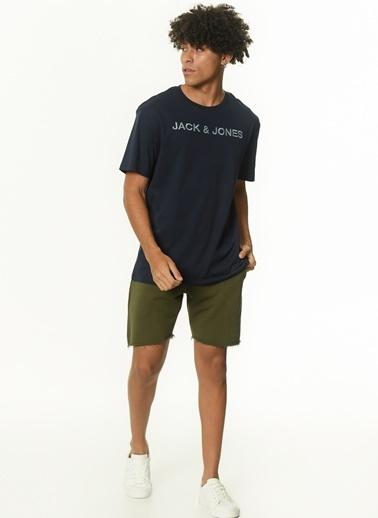 Jack & Jones Jack & Jones 12190039 Oil Green Erkek Tişört Renkli